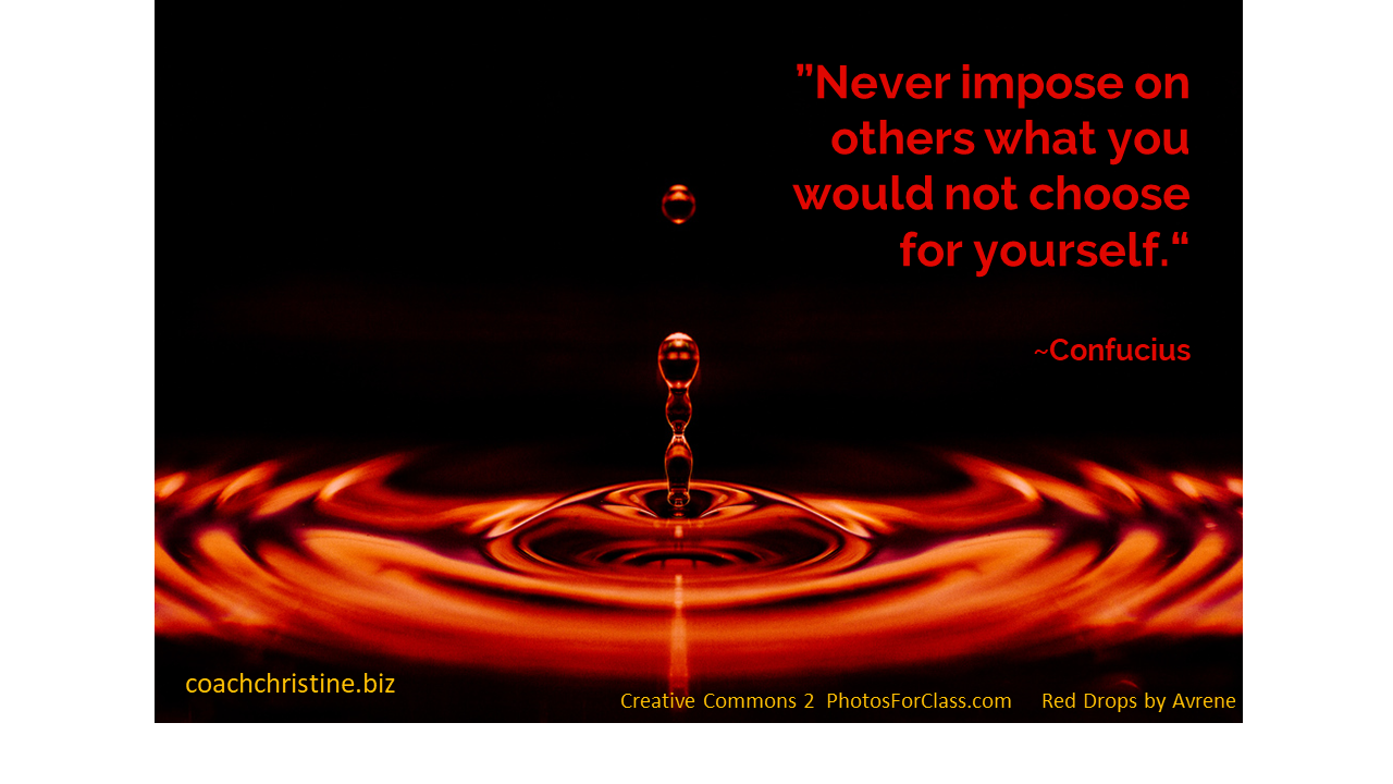 Confucius on treating others